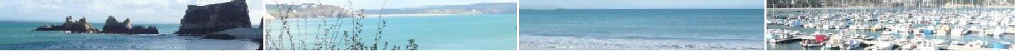 La grande plage et l'entrée du port plaisance de Morgat