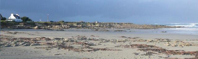 La plage de Pors Carn à Saint-Guénolé-Penmarc'h